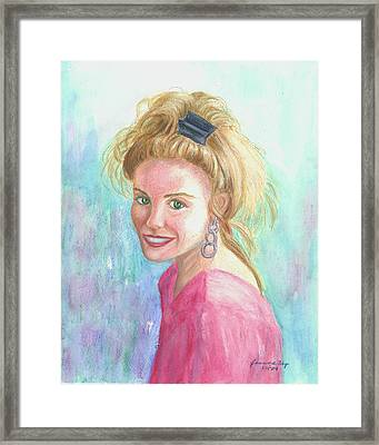 Framed Print featuring the painting Sunshine Girl by Jeanne Kay Juhos