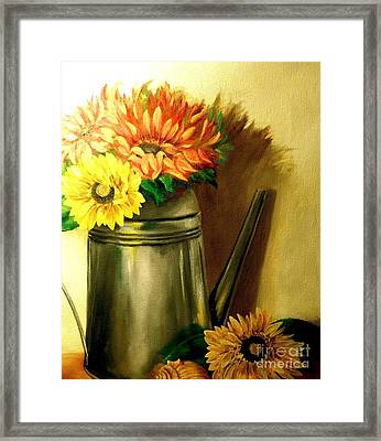 Sunshine In A Can Framed Print by Patricia Lang
