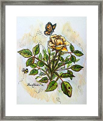 Sunshine In My Garden Framed Print