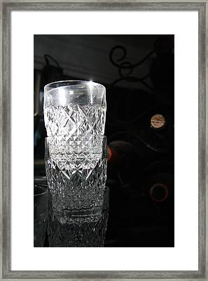 Sunshine In My Glass Framed Print by Jonathan Kotinek