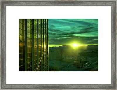 Sunshine In The Sky Framed Print by  Kelly Hayner