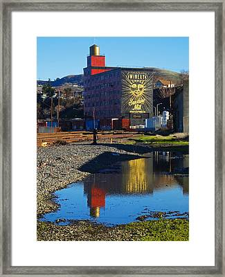 Sunshine Mill Reflection Framed Print