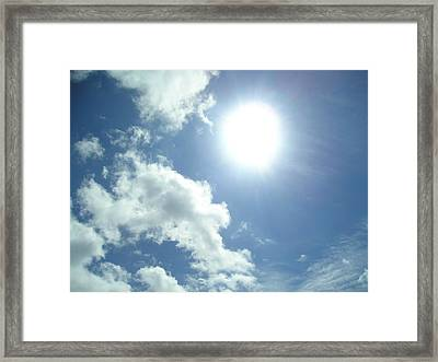 Sunshine On A Cloudy Day Framed Print by Allison Prior