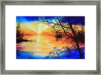 Sunshine On My Shoulders Framed Print by Hanne Lore Koehler