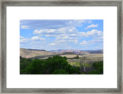 Sunshine On The Mountains - Verde Canyon Framed Print