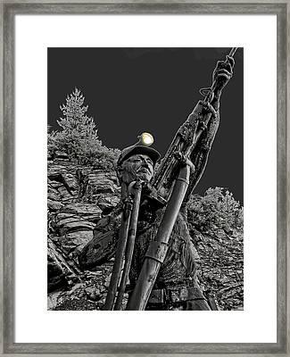 Sunshine Silver Mine Memorial - Kellogg Idaho Framed Print by Daniel Hagerman
