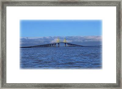 Sunshine Skyway Framed Print