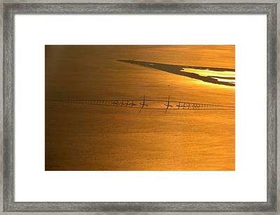 Sunshine Skyway Bridge At Sunset Framed Print