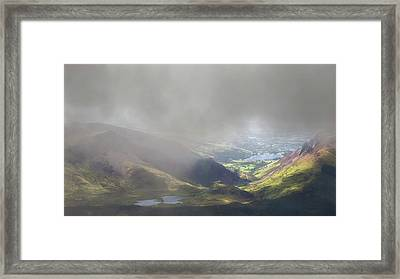 Sunshine Through The Low Cloud Framed Print