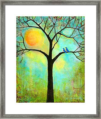 Sunshine Tree Framed Print
