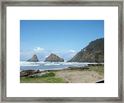 Sunshine Waves Framed Print by Justin  Randy