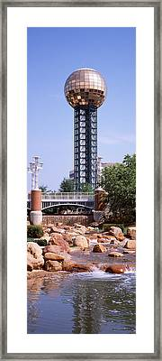 Sunsphere In A Fair, Worlds Fair Park Framed Print