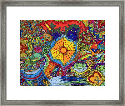 Sunsplash Framed Print