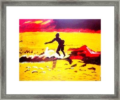 Sunsplashed Surf Framed Print