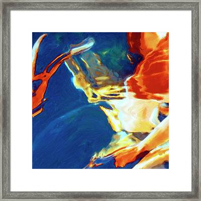 Framed Print featuring the painting Sunspot by Dominic Piperata