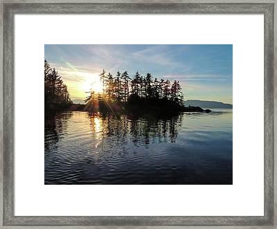 Sunstar Announcing Dusk Framed Print