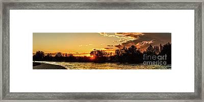 Sunstar Over The Payette Framed Print