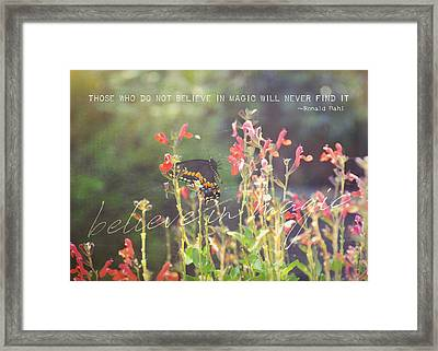 Sunstruck Quote Framed Print by JAMART Photography