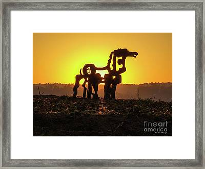 Suntan The Iron Horse Collection Art  Framed Print