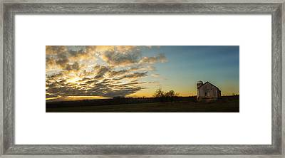 Sunup On The Farm Framed Print by Chris Bordeleau