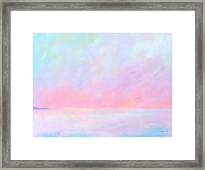 Sunup Over Kailua Framed Print by Angela Treat Lyon