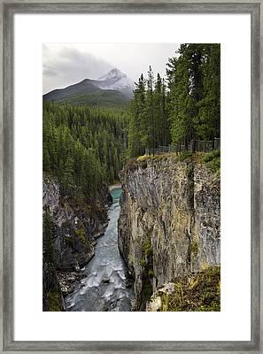 Sunwapta Falls Canyon Framed Print
