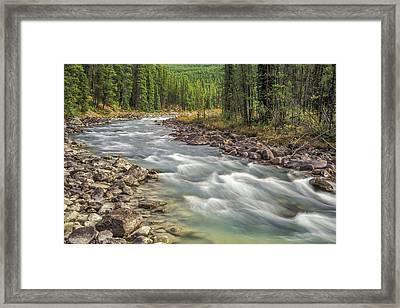 Framed Print featuring the photograph Sunwapta River 2005 01 by Jim Dollar