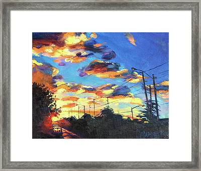 Sunward Framed Print by Bonnie Lambert