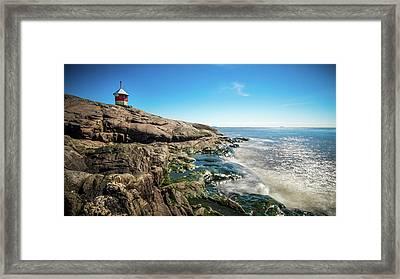 Suomenlinna Small Lighthouse - Helsinki, Finland - Seascape Photography Framed Print by Giuseppe Milo