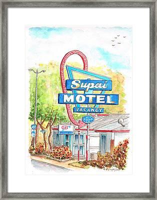 Supai Motel In Route 66, Seliman, Arizona Framed Print