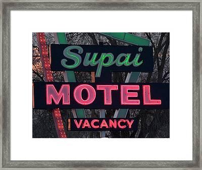 Supai Motel Neon Framed Print
