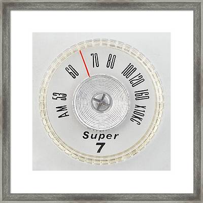 Super 7 Portable Radio Dial Framed Print by Jim Hughes
