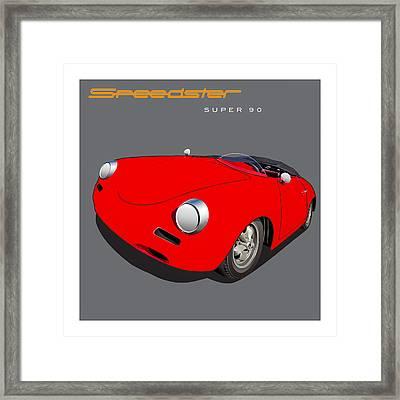 Porsche Super 90 Image Framed Print