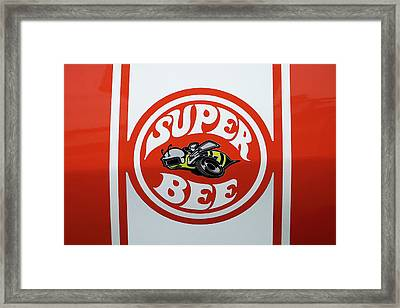 Framed Print featuring the photograph Super Bee Emblem by Mike McGlothlen
