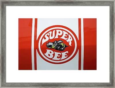 Super Bee Emblem Framed Print by Mike McGlothlen