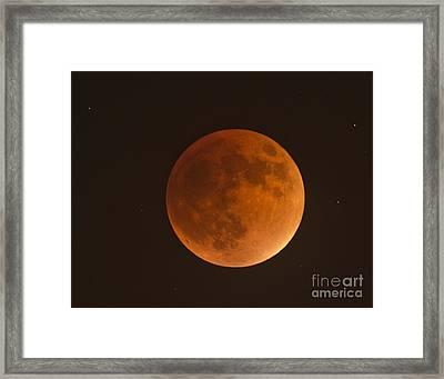 Super Blood Moon Framed Print