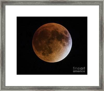 Super Blood Moon Lunar Eclipses Framed Print