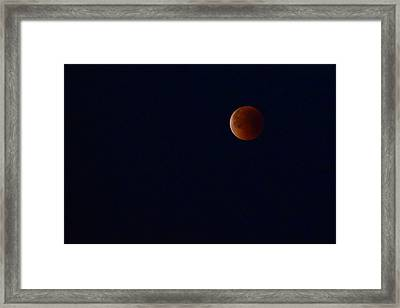 Super Blue Blood Moon Framed Print