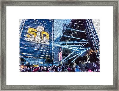Super Bowl 50 In Sf Framed Print