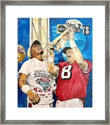 Super Bowl Legends Framed Print by Lance Gebhardt
