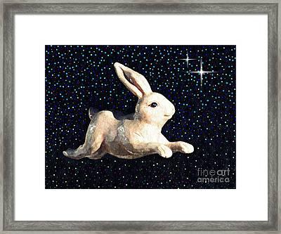 Super Bunny Framed Print