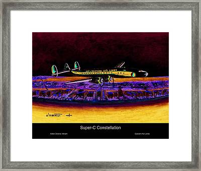 Super-c Constellation Framed Print