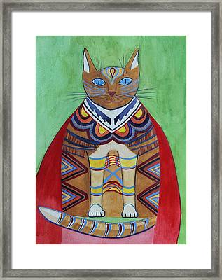 Super Cat Framed Print