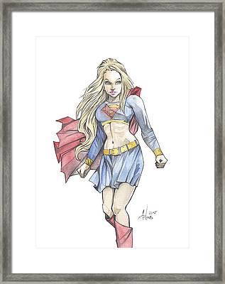 Super Girl Framed Print