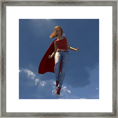 Super Hottie With Sky Framed Print by Nelson Nieves