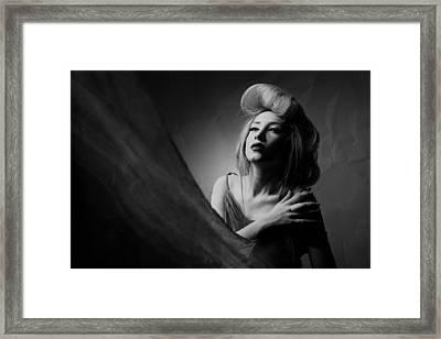Super Lady Framed Print by Amin Hamidnezhad