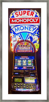 Super Monopoly Money Slot Machine At Lumiere Place Casino Framed Print by David Oppenheimer