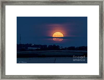 Super Moon Framed Print by Arik Baltinester