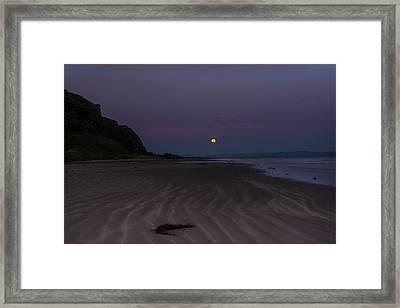 Super Moon At Downhill Beach Framed Print