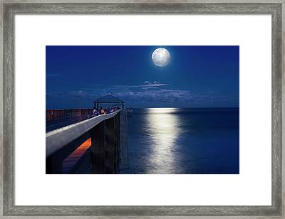 Super Moon At Juno Framed Print by Laura Fasulo